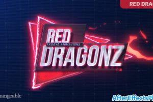 پروژه افتر افکت نمایش متن و عنوان با افکت کارتونی – Red Dragonz