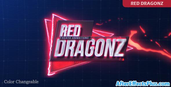 پروژه افتر افکت نمایش متن و عنوان با افکت کارتونی - Red Dragonz