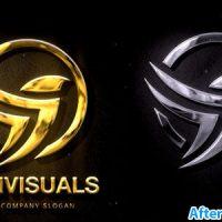 دانلود پروژه افتر افکت نمایش لوگو نقره ای و طلایی 2 – Silver & Gold Logo Reveal 2