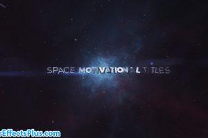 پروژه افتر افکت نمایش متن در فضا و کهکشان – Space Motivational Titles