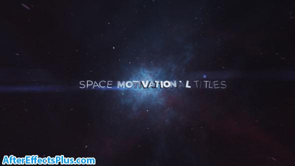 پروژه افتر افکت نمایش متن در فضا و کهکشان - Space Motivational Titles