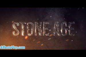 دانلود پروژه افتر افکت متن سنگی سه بعدی – Stone Age
