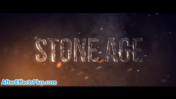 پروژه افتر افکت متن سنگی سه بعدی - Stone Age