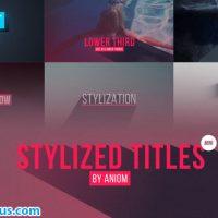 پروژه افتر افکت متن و زیرنویس فلت سایه دار – Stylized Titles