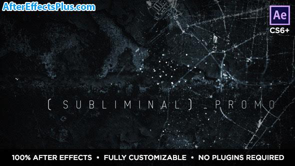 پروژه افتر افکت اسلایدشو ترسناک زیرزمینی - Subliminal Slideshow