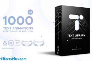 پروژه افتر افکت پکیج متن متحرک Text Library – Handy Text Animations