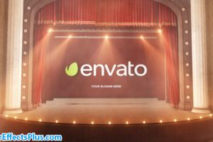 پروژه افتر افکت نمایش لوگو پرده تئاتر – Theatre Curtain Logo