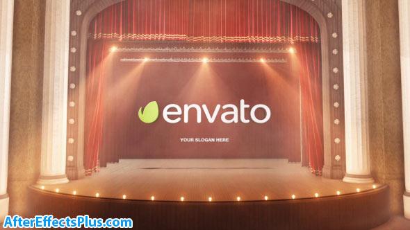 پروژه افتر افکت نمایش لوگو پرده تئاتر - Theatre Curtain Logo