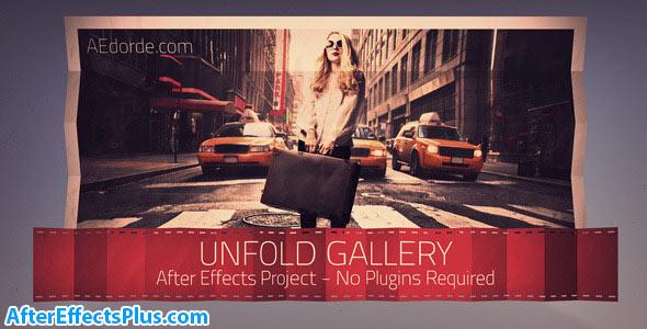 پروژه افتر افکت گالری عکس تا شده - Unfold Gallery