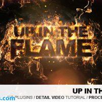 پروژه افتر افکت نمایش لوگو با شعله های آتش – Up In The Flames Kit