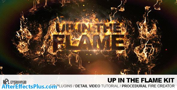 پروژه افتر افکت نمایش لوگو با شعله های آتش - Up In The Flames Kit