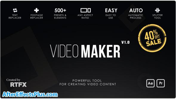 پروژه افتر افکت سارنده فیلم حرفه ای - Video Maker