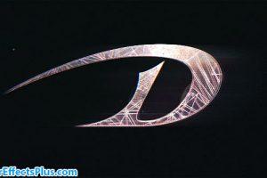 پروژه افتر افکت لوگو فلری با افکت پارازیت – WireFrame Glitch Logo Intro