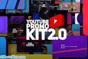 پروژه افتر افکت ابزار تبلیغاتی یوتیوب و شبکه اجتماعی – Youtube Promo Kit 2.0