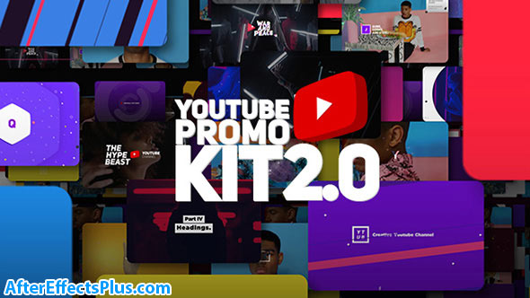 پروژه افتر افکت ابزار تبلیغاتی یوتیوب و شبکه اجتماعی - Youtube Promo Kit 2.0
