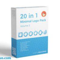 پروژه افتر افکت پکیج 20 لوگو فلت و مینیمال – 20 in 1 Minimal Logo Pack