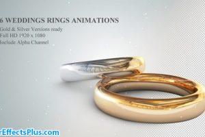 پروژه افتر افکت حلقه ازدواج و نامزدی سه بعدی – 3D Wedding Rings Animations