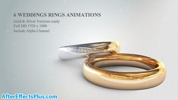 پروژه افتر افکت حلقه نامزدی و عروسی سه بعدی - 3D Wedding Rings Animations