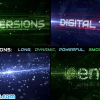 پروژه افتر افکت اینترو و نمایش لوگو اینترنت و شبکه – Data Stream Titles
