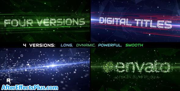 پروژه افتر افکت اینترو و نمایش متن اینترنت و شبکه - Data Stream Titles