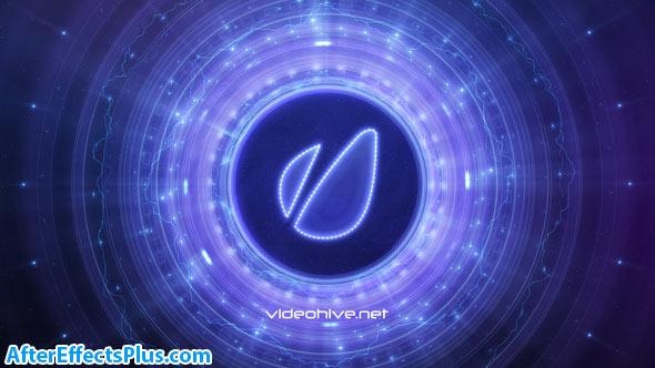 پروژه افتر افکت نمایش لوگو کهکشان دیسکی - Disk Galaxy Logo Reveal