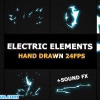 پروژه افتر افکت المنت افکت برق کارتونی – Dynamic Electric Elements