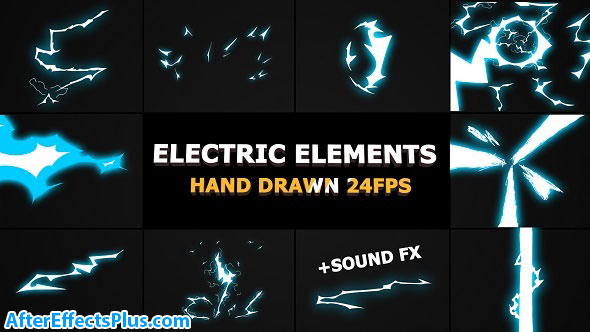 پروژه افتر افکت المنت افکت برق کارتونی - Dynamic ELECTRIC Elements
