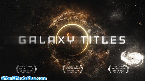 پروژه افتر افکت نمایش متن در کهکشان - Videohive Epic Galaxy Titles