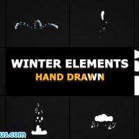 پروژه افتر افکت المنت افکت کارتونی زمستان – Flash FX WINTER Elements