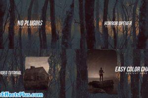 پروژه افتر افکت اینترو ترسناک در جنگل – Horror Opener Titles