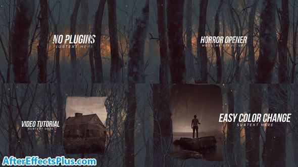 پروژه افتر افکت اینترو ترسناک در جنگل - Horror Opener Titles
