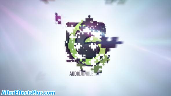 پروژه افتر افکت نمایش لوگو با تکه های پازل - Puzzle Clean Logo