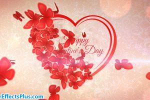 پروژه افتر افکت اینترو قلب رمانتیک با پرواز پروانه – Romantic Heart Opener