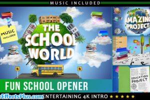 پروژه افتر افکت اینترو مدرسه و آموزشی – School Education Opener