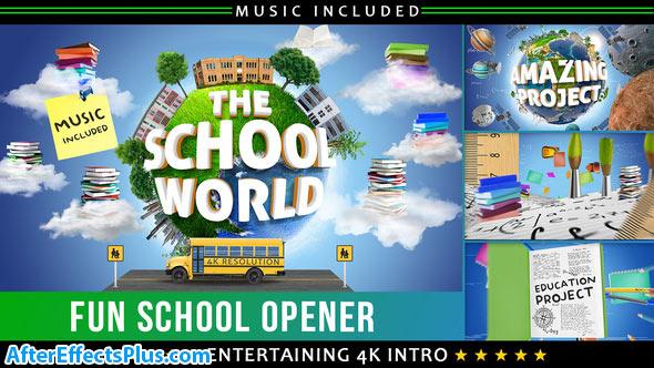 پروژه افتر افکت اینترو مدرسه و آموزشی - School Education Opener