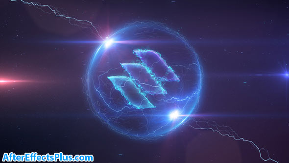 پروژه افتر افکت نمایش لوگو طوفان الکتریکی - Space Storm Logo