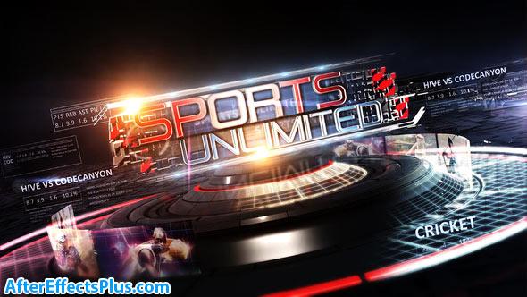 پروژه افتر افکت پکیج ابزار و اینترو ورزشی نامحدود - Sports Unlimited Broadcast Pack