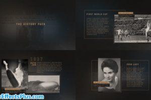 پروژه افتر افکت پکیج اسلایدشو و قالب ارائه – The History Pack