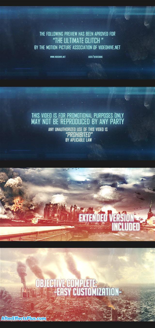 پروژه افتر افکت تریلر و اسلایدشو یا افکت پارازیت - Videohive The Mission Trailer - Glitch Slideshow