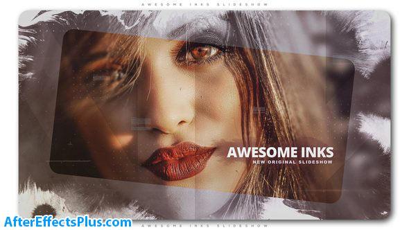 پروژه افتر افکت اسلایدشو جوهری زیبا - Awesome Inks Slideshow