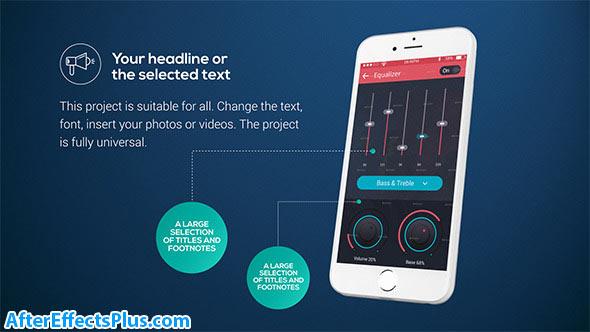 پروژه افتر افکت پکیج قالب موبایل برای ارائه - Phone Presentation Pack