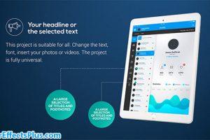 پروژه افتر افکت پکیج تیزر تبلیغاتی برای تبلت – Tablet Presentation Pack