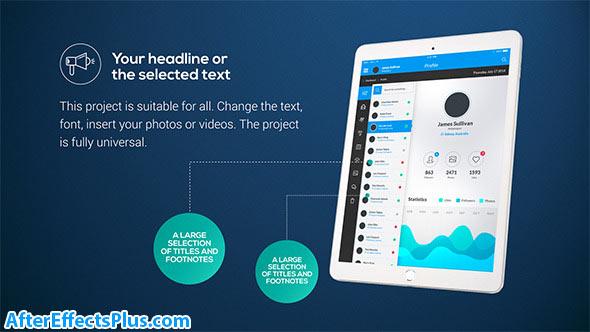 پروژه افتر افکت پکیج تیزر تبلیغاتی برای تبلت - Tablet Presentation Pack