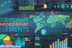 پروژه افتر افکت ابزار اینفوگرافیک شرکتی رنگارنگ – Colorful Corporate Infographic Elements