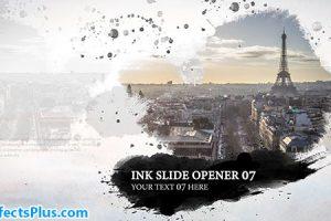 پروژه افتر افکت اینترو و اسلایدشو جوهری – Ink Slide Opener