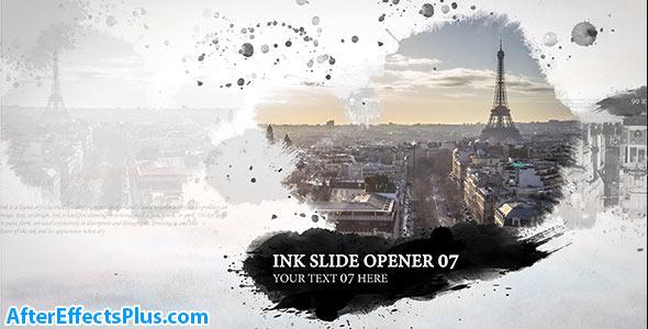 پروژه افتر افکت اینترو و اسلایدشو جوهری - Ink Slide Opener