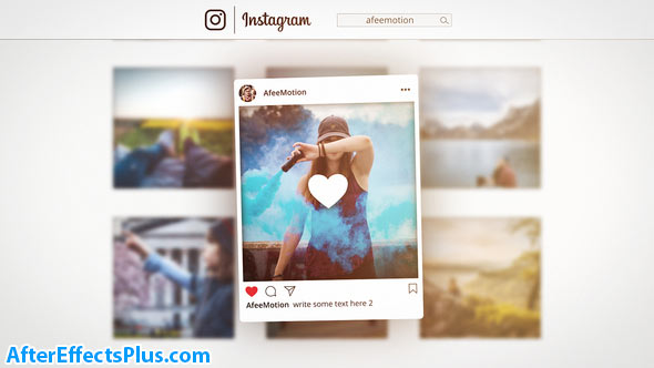 پروژه افتر افکت تیزر معرفی پیج اینستاگرام - Instagram Promo
