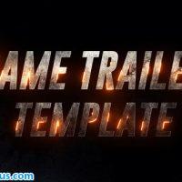 پروژه افتر افکت تریلر فیلم با متن سه بعدی فلزی – Iron Game Trailer
