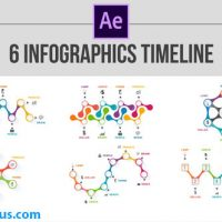 پروژه افتر افکت 6 تایم لاین اینفوگرافیک – 6 Infographics Timeline