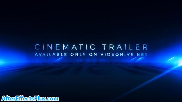 پروژه افتر افکت تریلر سینمایی به همراه متن - Cinematic Trailer Titles Media Opener
